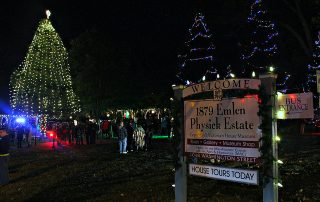 Emlen Physick Estate - Christmas at nightime