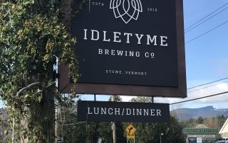 Idletyme Brewery VT - sign