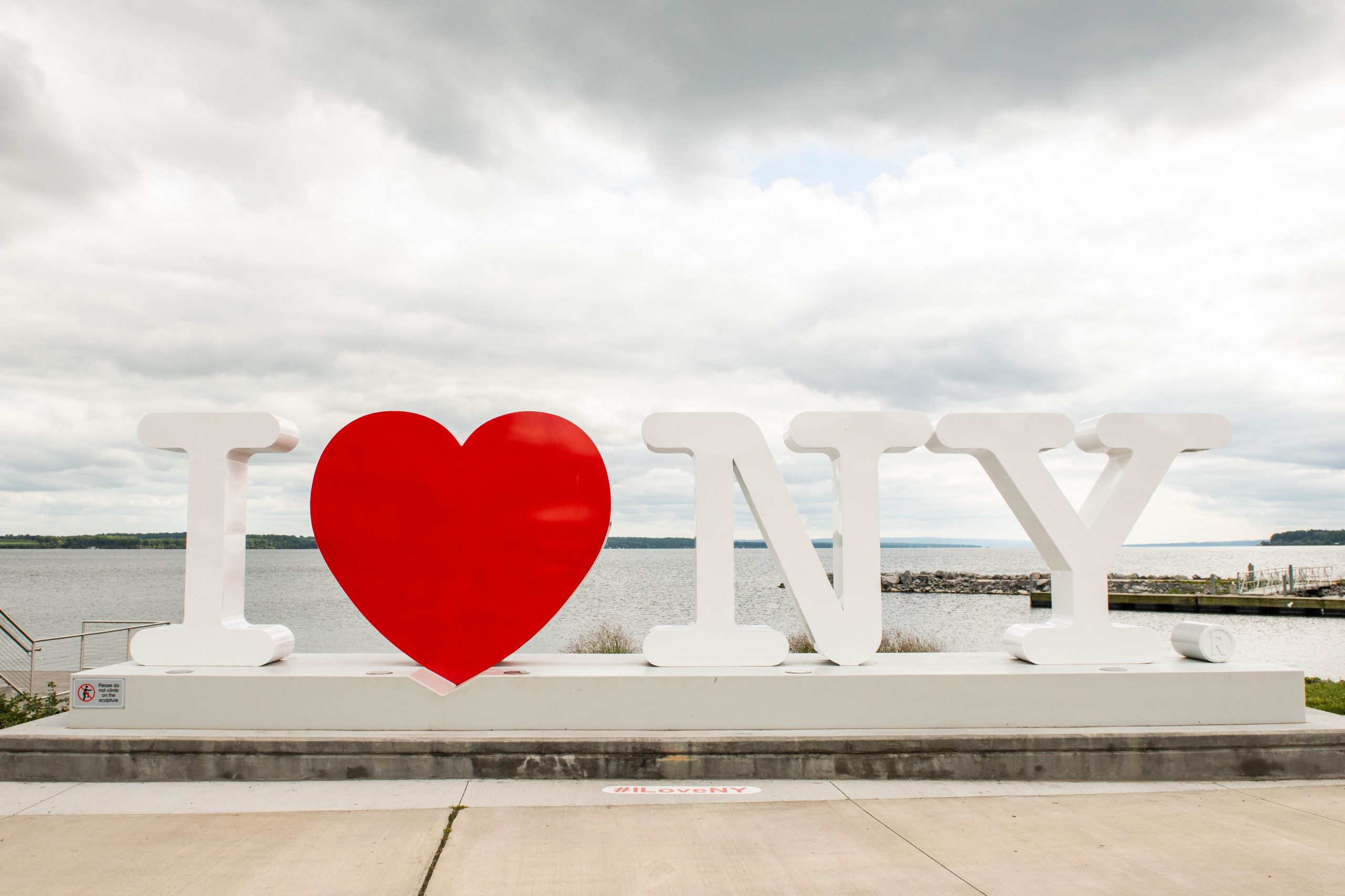 I Love New York sign on Seneca Lake Photo Courtesy of VisitFingerLakes