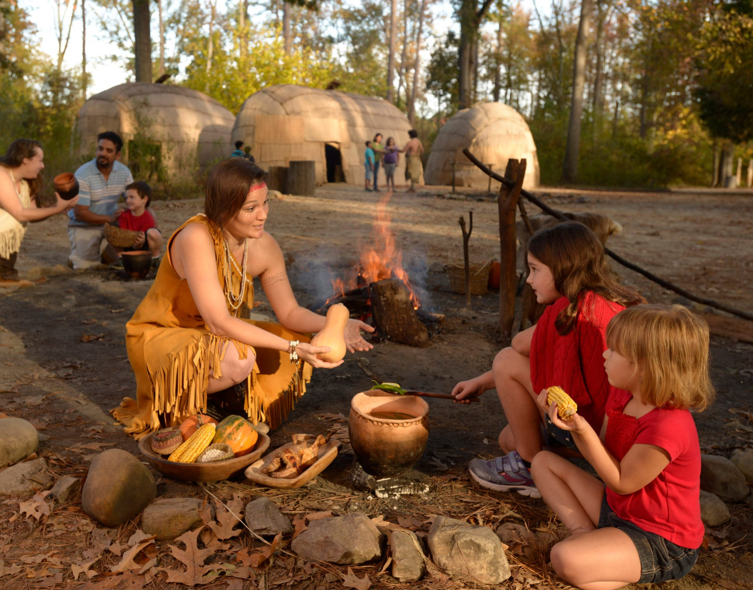 JS-Powhtan-Indian-village-cooking