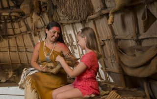 Jamestown-Settlement-Powhatan-Indian-village-1